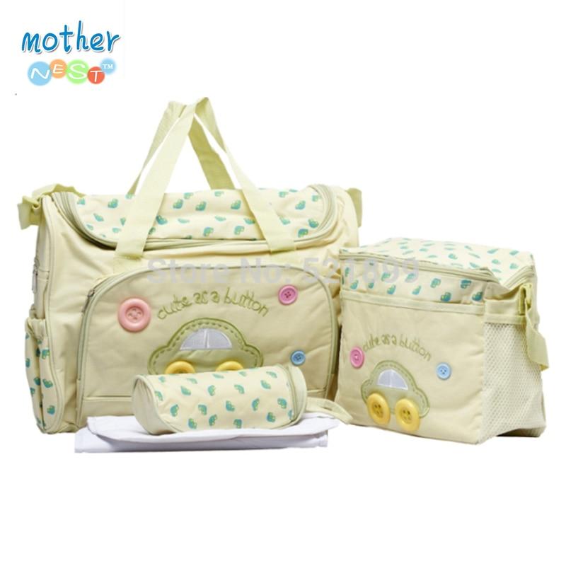 4pcs/set PROMOTION!!!Diaper Bags Designer Maternity Nappy Bags Mummy Baby Bag