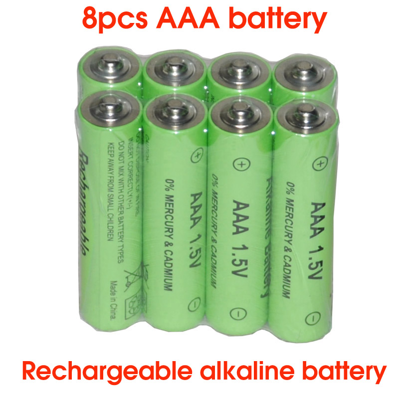 SORAVESS 8PCS 1.5V 2000mAh Rechargeable Battery Alkaline <font><b>AAA</b></font> 10440 Batteries For Clock Toys Flashlight Remote Control Camera image