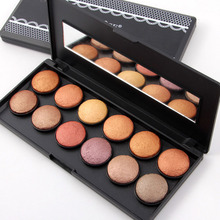 12 Colors 3D Baked Eye Shadow Palette Shimmer Glitter Eyeshadow Palette Smoky Eye Make up Professional Eyes Beauty Cosmetics Set