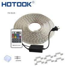 HOTOOK LED Strip 220V LED Tape RGB Rope 110V Ruban LED IP68 Waterproof TV Tira Flexible Ribbon Neon Flex ForCeilling Outdoor