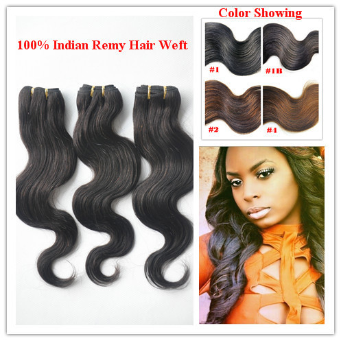 "Retails Mixed lengths 100% Indian Remy hair Body wave weft 18""/20"" 2 bundles each DHL free shipping(4pcs/lot)"