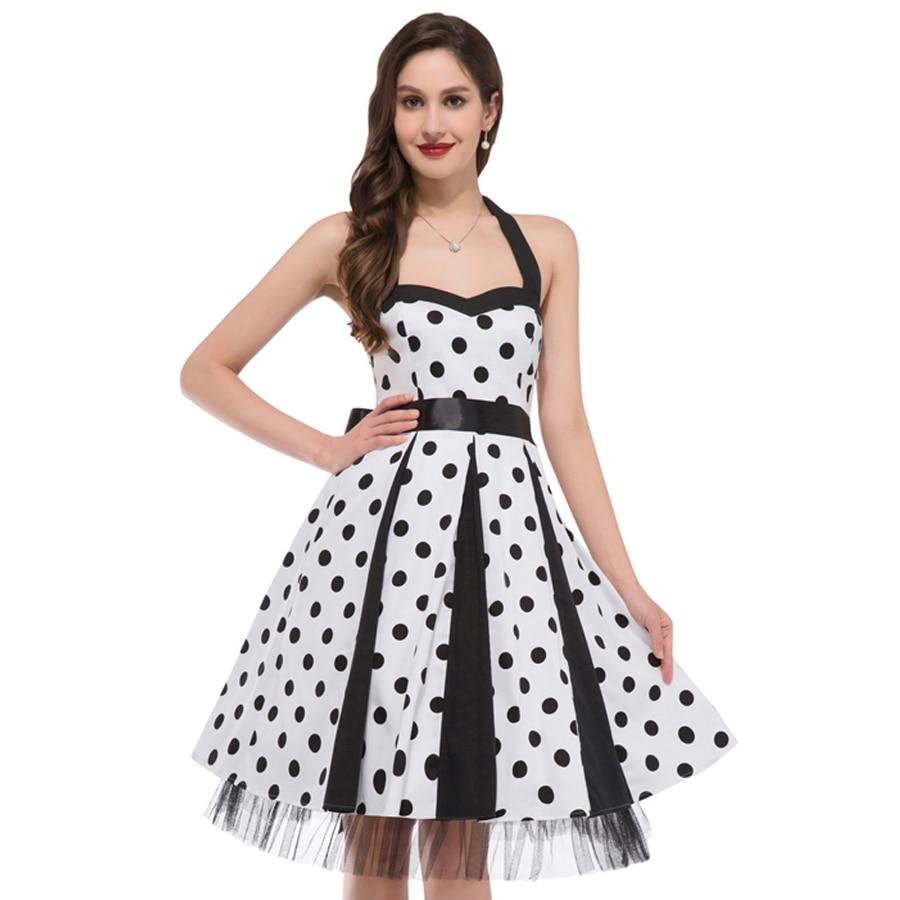 Normal Frock Designs 2017 Sri Lanka: Summer Style 60s Polka Dots Dress 2017 Retro Vintage 50s