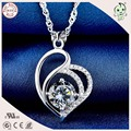 Silver Factory Sell High Quality Noble 925 Solid Silver Charm Heart Pendant For Woman