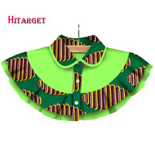 Hitarget 2017 African Shawl Necklaces for Women Chokers Print Ankara Tribal Handmade False Collar WYB239