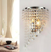 Fashion Modern Art High Grade Crystal Wall Lamp For Home Bedroom Living Room Decoration Wall Light European Luxury Style