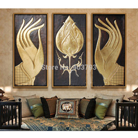 MODERN ABSTRACT HUGE LARGE CANVAS ART OIL PAINTING southeast Asian style buddha hand paintings no framed