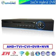 Гибридный 16 каналов 1080N 5 в 1 коаксиальный DVR 16CH 720 P/960 P/1080 P/960 h поддержка P2P ONVIF металлический корпус для видеонаблюдения Камеры скрытого видеонаблюдения