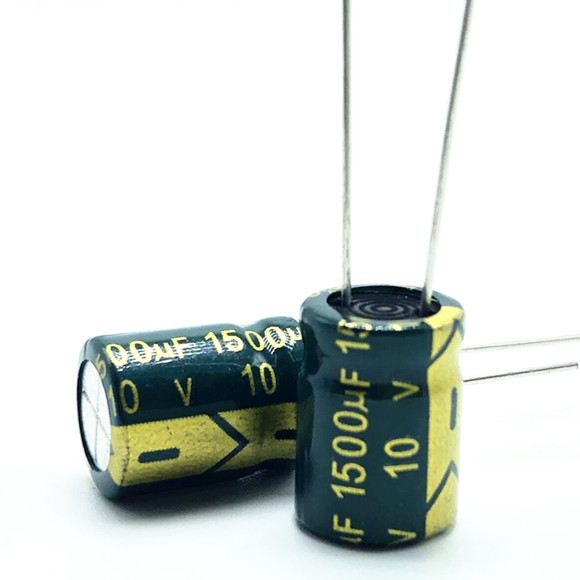 10v 1500UF 10*13 High Frequency Low Impedance Aluminum Electrolytic Capacitor 1500uf 10v 20%