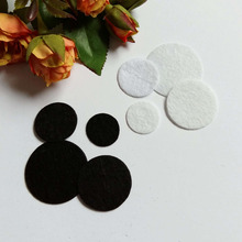 DIY Craft Accessories 200Pcs 20/25/30/35mm Round Felt Fabric Pads Accessory Patches Circle Flower