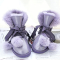 UVWP Top Quality Moda Mulheres Botas De Neve Genuína Botas De Couro de pele de Carneiro 100% Botas de Lã Botas de Inverno Quente Mulheres De Peles Naturais