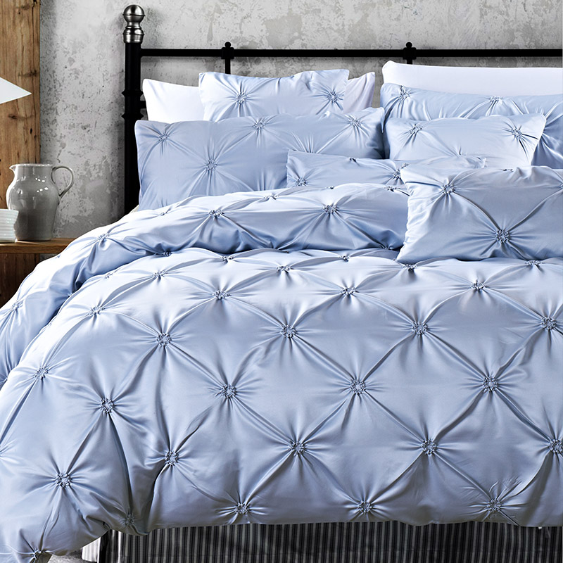 pinch color piece ruched comforter size bed blue duvet cover pleat set pinched navy queen bedding
