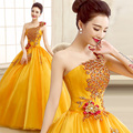 new 2015 color gauze bitter fleabane peach quinceanera dresses ball gown