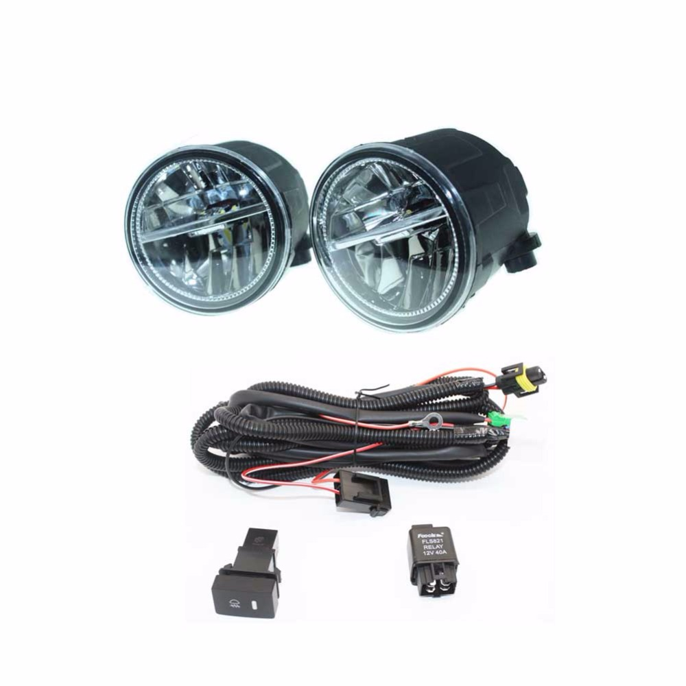 For Infiniti FX35/37/45/50 EX35/37 H11 Wiring Harness Sockets Wire Connector Switch + 2 Fog Lights DRL Front Bumper LED Lamp dwcx fog light lamp female adapter wiring harness sockets wire connector for ford focus acura nissan honda cr v infiniti subaru