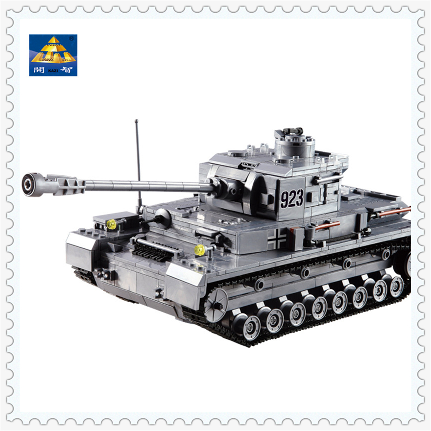 1193Pcs Panzer IV War German Military Tank Model Building Block Toys KAZI 82010 Figure Gift For Children Compatible Legoe