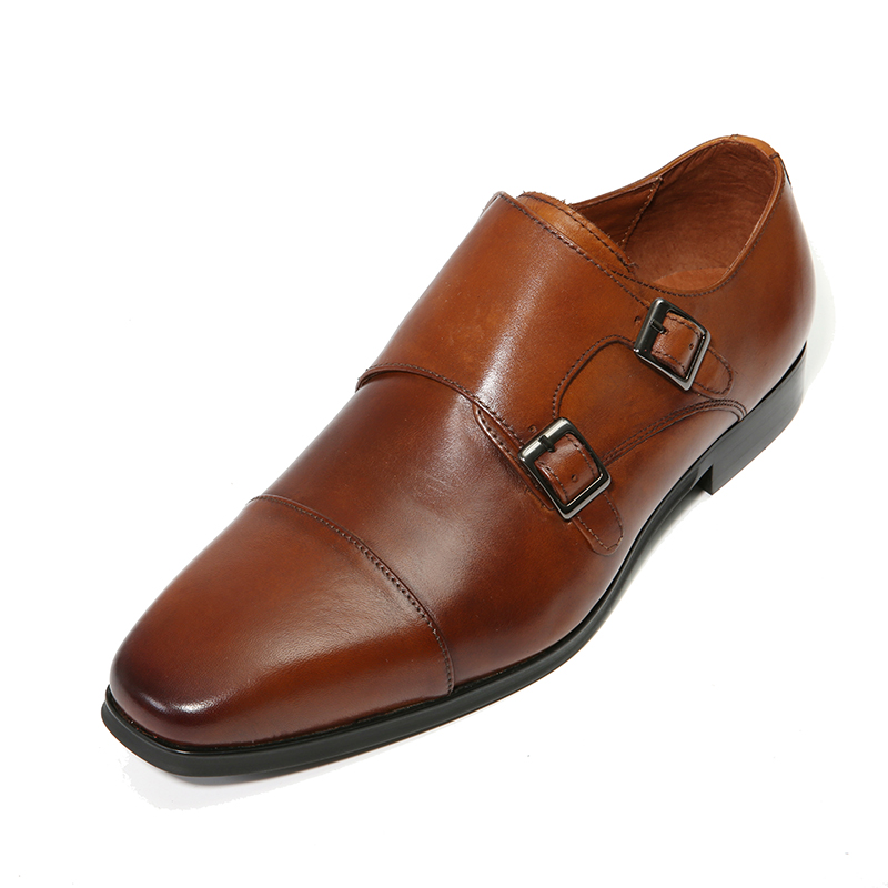 Yjp Leather Business Monk Strap Shoes Black Brown Buckle Formal Shoe Fit For Office Men Cow Dress Zapatos Hombre In From
