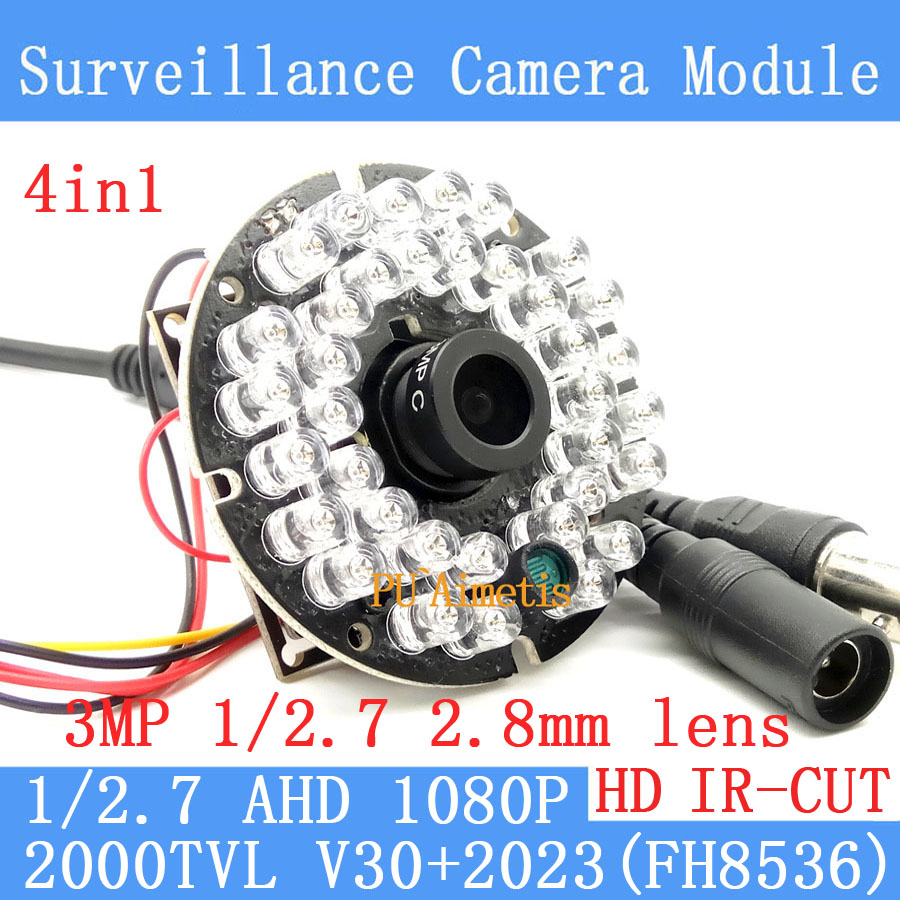 2000TVL 4in1 2MP 1920*1080 1/2.7 V30+G2023 AHD CCTV Camera Module 2.8MM HD 30lamp infrared Night Vision Surveillance