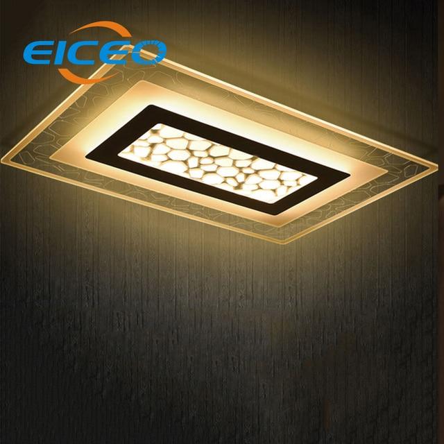 eiceo fernbedienung wohnzimmer leuchtet moderne minimalistische led deckenleuchte lampe dimmen. Black Bedroom Furniture Sets. Home Design Ideas