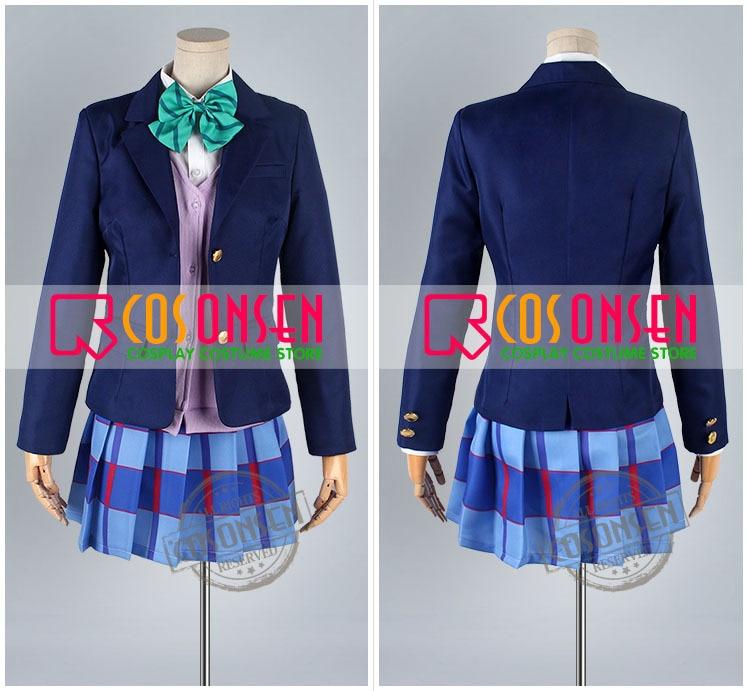 COSPLAYONSEN Love Live! Нико Ядзава школьная форма косплей костюм полный набор все размеры высокое качество на заказ
