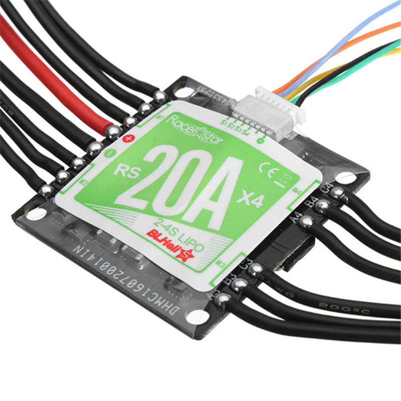 Racerstar RS20A x 4 20A 4 in 1 Blheli_S Opto ESC 2 4S Support Oneshot42 Multishot for FPV Racer Quadcopter Racing Drone DIY-in Parts & Accessories from Toys & Hobbies    2