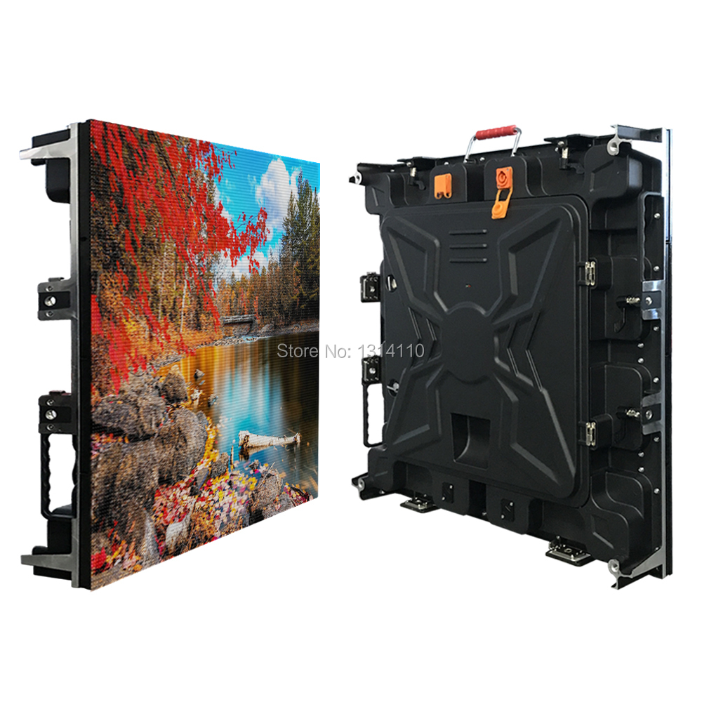 Customize P4 Outdoor Full Color LED Display Cabinet Lease LED Screens 640*640mm Die-cast Aluminum Cabinet 320x160 Led Board