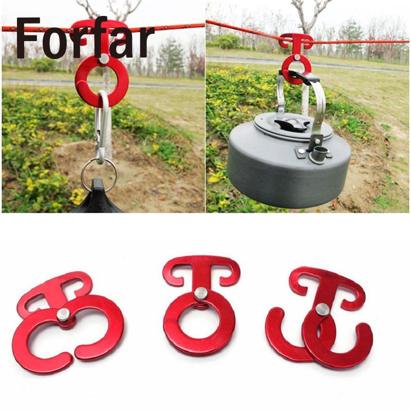 Outdoor Camping tent Rope hanger Buckles Tent Pegs Camping Hiking Wind Ropes Engaging Pocket tools utility indispensable tools
