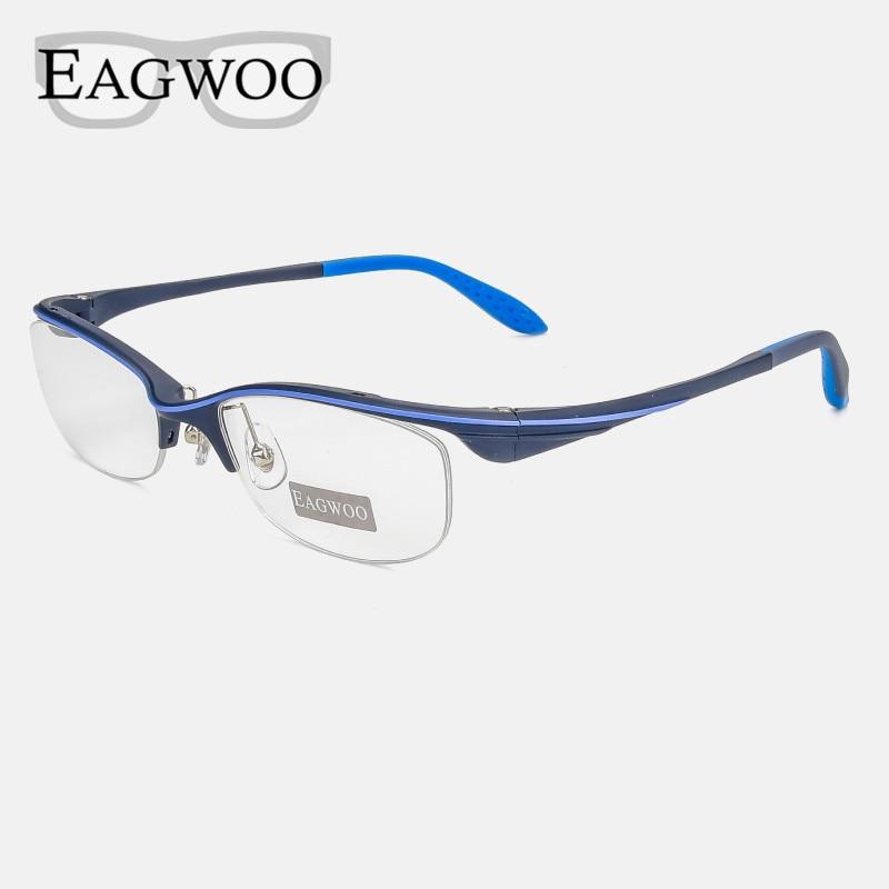 Sports Super Light Optical Frame Prescription Men Designed Eyeglasses Sporting Half Rim Spectacle with Anti Slip Temple 28090