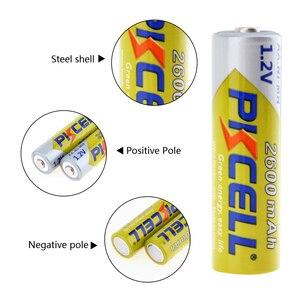 Image 5 - 4 adet/kart PKCELL AA piller 1.2 V NI MH 2600mAh 2A NIMH 1.2 Volt AA şarj edilebilir pil Baterias Bateria piller