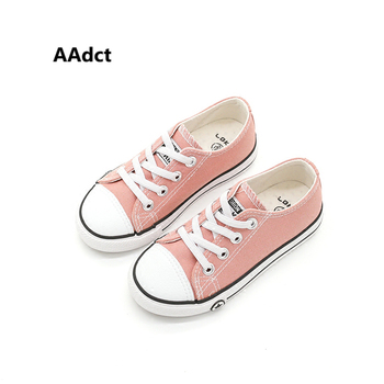 AAdct children shoes Autumn Spring new fashion girls canvas shoes casual running sports little kids shoes for boys 2018 spring autumn new brand cartoon children sneakers sports running led lighted shoes kids cool cute boys girls shoes