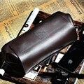 Diseño único genuino de la marca Famosa bolsa de cuero de Alta calidad de Negocios Casual hombres bolsa de embrague bolsos de piel de Vaca carpetas Largas monederos