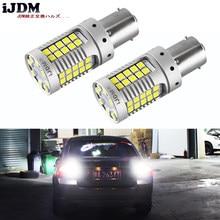 Ijdm lâmpadas de substituição para carro, lâmpadas led super brilhantes 15w 35-smd 1156 p21w 7506, luzes reversas de backup para carro, 12v xenon branco