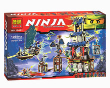 Bela Ninja 10401 ciudad de Maestros Stiix Spinjitzu Building Blocks Ladrillos Juguetes Ninos Compatível