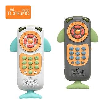 Новый Tumama Детские музыкальные игрушки умный мобильный телефон удаленный телефон Ранние развивающие игрушки электрические цифры обучающая... >> TUMAMA KIDS Official Store