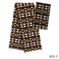promotion Latest satin silk fabric colorfast Nigrian design African wax pattern satin silk fabric for wedding 4+2yards/lot 933