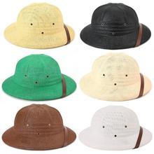 Соломенная шляпа-шлем для взрослых