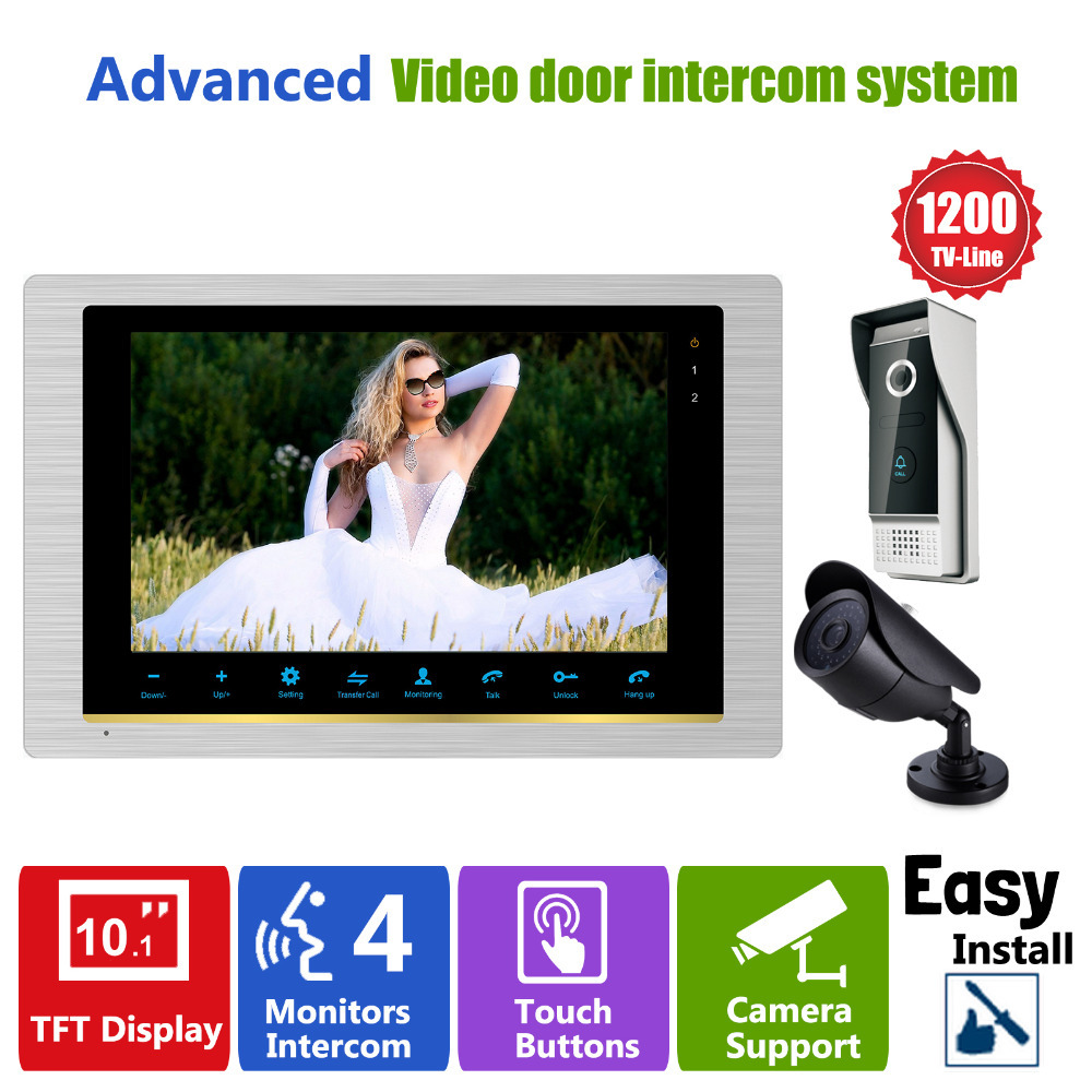 Homefong Video Door Phone Intercom Doorbell Camera system Quality Indoor Monitor 10 CCTV Security Door Access Control Rainproof homefong 7 tft wired video intercom doorbell rainproof door phone camera chime for cctv home security video door phone system
