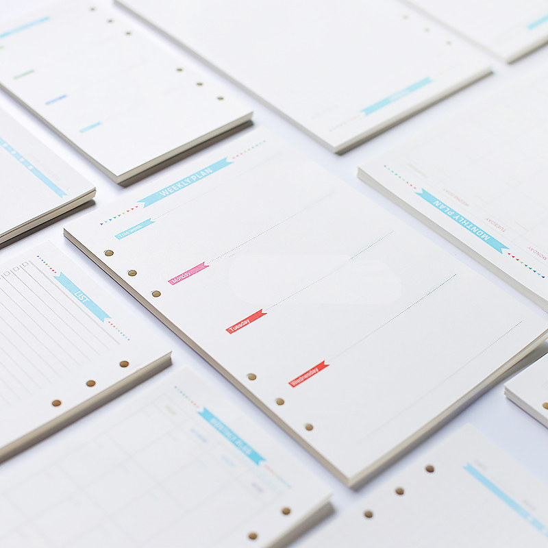 Weekly Monthly Plan Registration Note Books