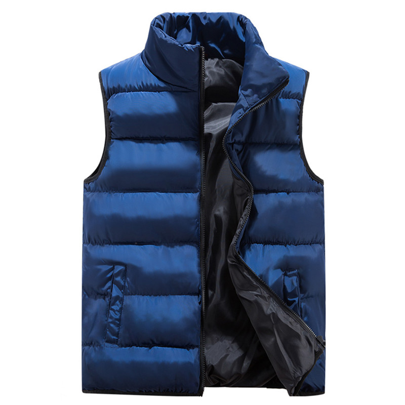 2018 new autumn and winter mens casual collar zipper cotton vest / Mens thick warm waistcoat big size M-5XL