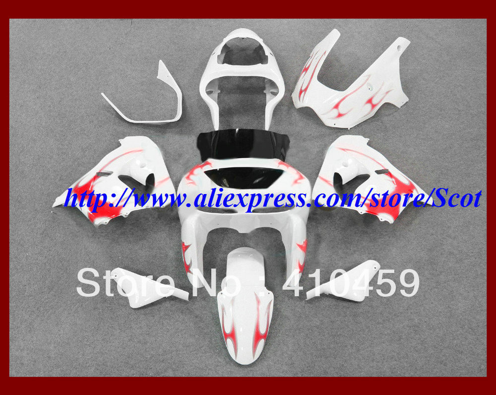 2013 Famous red white Fairing kit for KAWASAKI Ninja ZX9R 00 01 ZX 9R 2000  2001 ZX 9R 00 01 2000 2001 body work-in Covers & Ornamental Mouldings from  ...