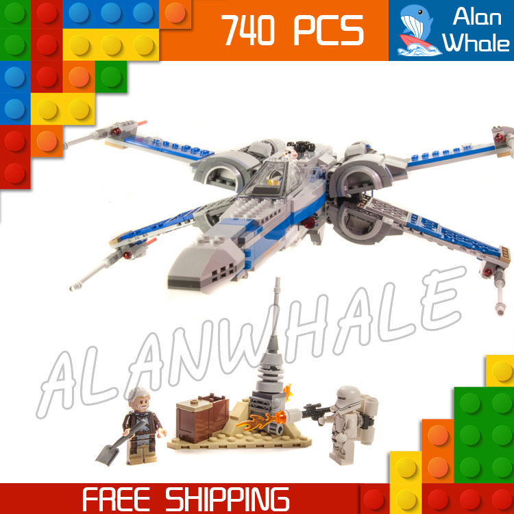 740pcs Star Wars universe New 05029 Resistance X-Wing Fighter DIY Model Building Blocks Kit Toy Compatible with Lego universe ru bun lock children puzzle toy building blocks