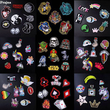 Prajna Wholesale Patch Star Wars Iron On Cartoon Patches Cute Cheap Embroidered For Clothing DIY Jean