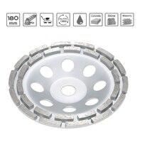 180mm 7 Sanding Disc Diamond 2 Row Segment Grinding Wheel Sander Grinder Cup Abrasive Tools 22mm