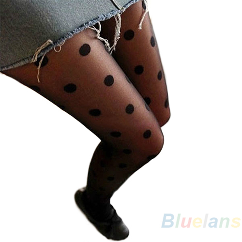 Hot Black Sexy Sheer Lace Big Dot Pantyhose Stockings Tights Dot  Slim  0JQZ BD46