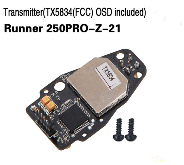 Transmitter TX5834 FCC OSD Included Walkera Runner 250PRO-Z-21 for Walkera Runner 250 PRO GPS Racer Drone RC Quadcopter original walkera devo f12e fpv 12ch rc transimitter 5 8g 32ch telemetry with lcd screen for walkera tali h500 muticopter drone