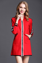 High quality womens casual coat 2019 spring Red baseball jackets S059