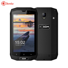 AGM A1Q 4G Smartphone 5.0 pouce Android 7.0 MSM8916 Quad Core 4 GB RAM 64 GB ROM IP68 OTG Fonction NFC 13MP Caméra Mobile