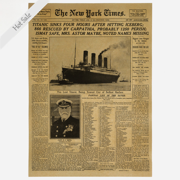 Aliexpress.com : Buy The New York Times Old Newspaper Nytimes poster ...