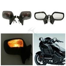 Motorcycle Rear View Mirrors w/Smoke Signal Lens For Honda Goldwing GL1800 F6B 2013-2017 16 motorcycle rear view mirrors w smoke signal lens for honda goldwing gl1800 f6b 2013 2017 16