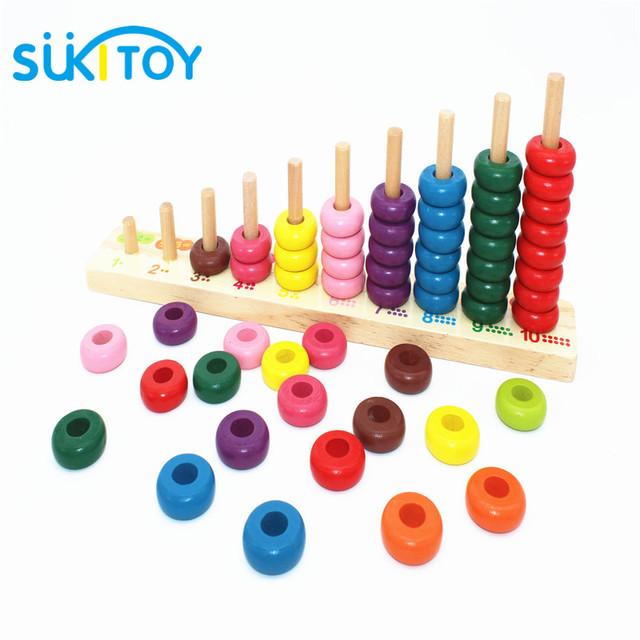 Íris do bebê Frisado Blocos Clássico Matemática De Madeira cor Brinquedo aprendizagem Precoce educacional toy presente para crianças baby & baby WD177