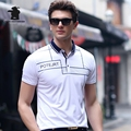 New men's Short Sleeve Polo Shirts 2017 Summer Fashion Printing Plus Size Business Casual Polo Shirts Men M~3XL C15D8108