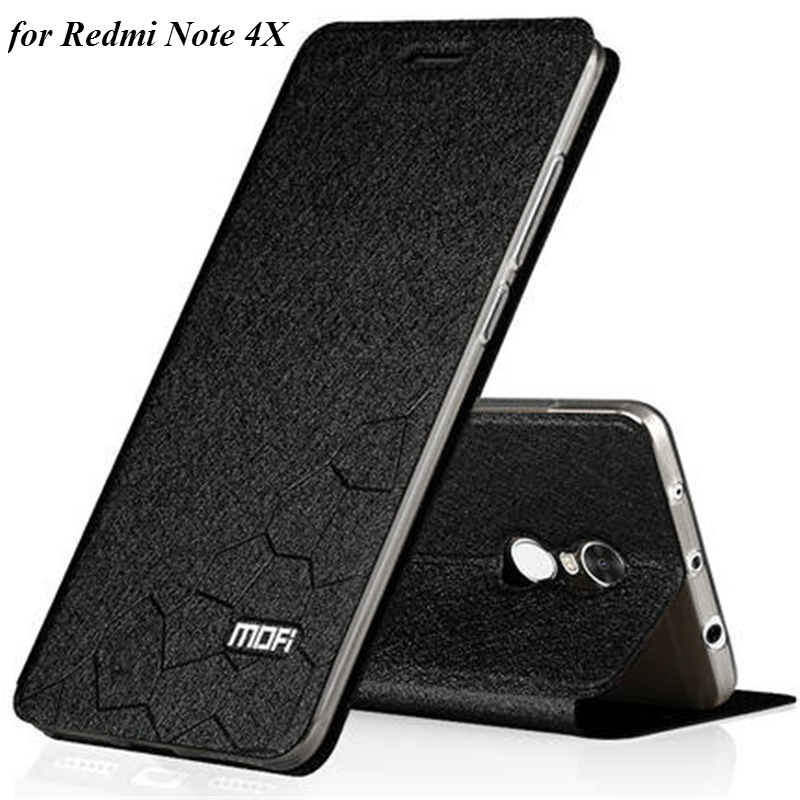 Original MOFI Flip Leather Case for Xiaomi Redmi Note 4X PU Leather Case with Stand Function for Hongmi Note 4X 5.5 Inch Fundas